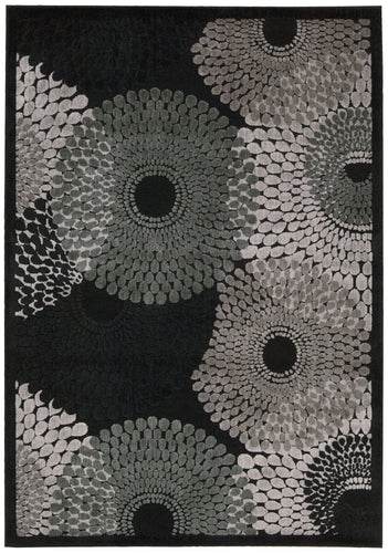 Nourison Graphic Illusions Black Area Rug GIL04 BLK
