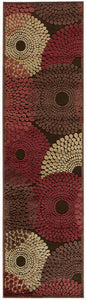 Nourison Graphic Illusions Brown Area Rug GIL04 BRN