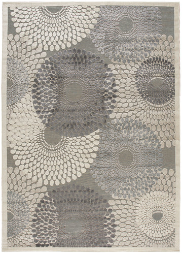 Nourison Graphic Illusions Grey Area Rug GIL04 GRY