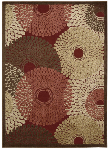 Nourison Graphic Illusions Red Area Rug GIL04 RED
