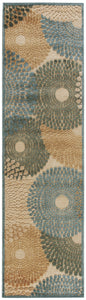 Nourison Graphic Illusions Teal Area Rug GIL04 TL