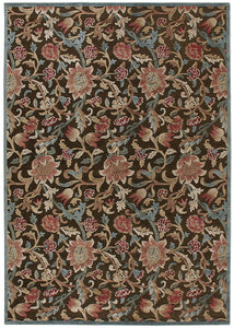 Nourison Graphic Illusions Brown Area Rug GIL06 BRN