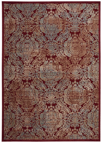 Nourison Graphic Illusions Red Area Rug GIL09 RED