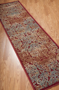 Nourison Graphic Illusions Red Area Rug GIL09 RED (Runner)