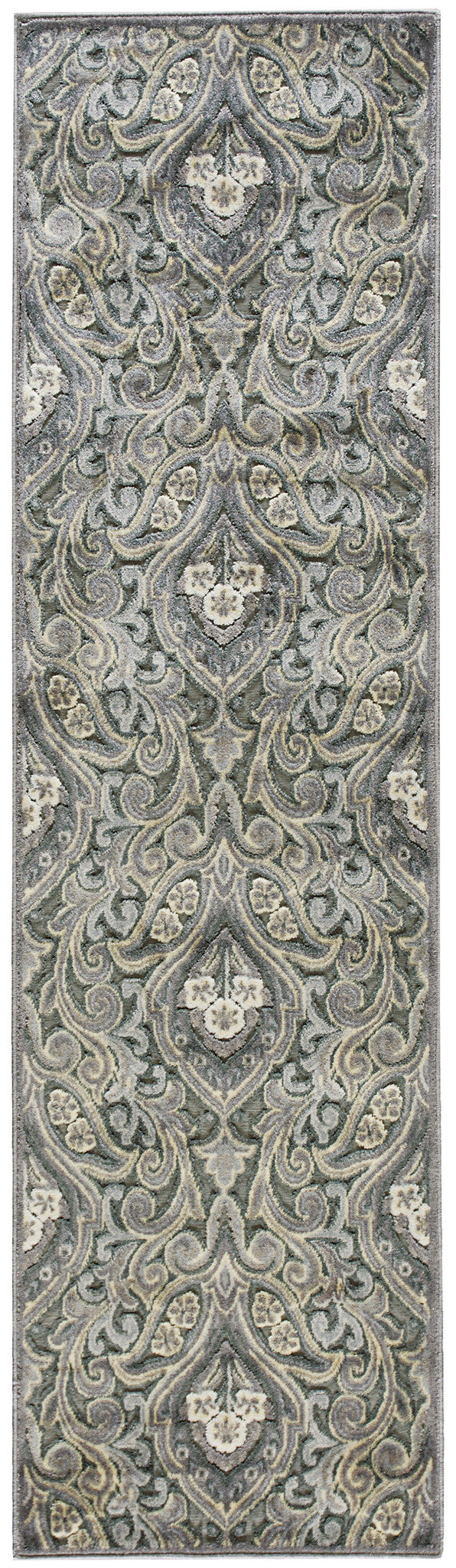 Nourison Graphic Illusions Grey Area Rug GIL11 GRY