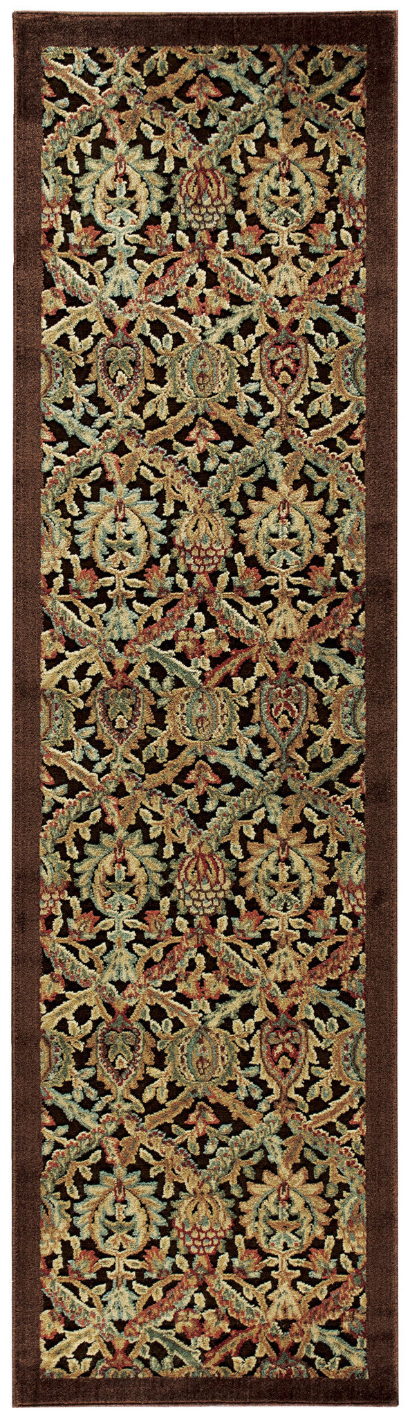 Nourison Graphic Illusions Chocolate Area Rug GIL15 CHO