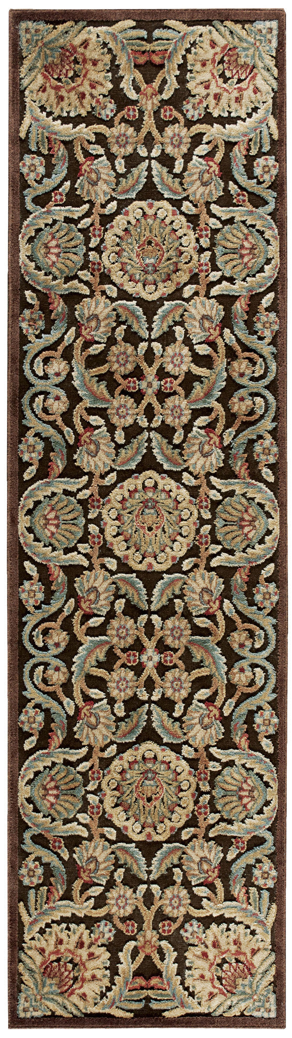 Nourison Graphic Illusions Chocolate Area Rug GIL17 CHO