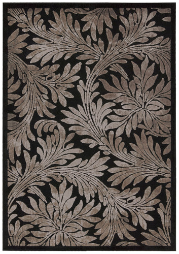 Nourison Graphic Illusions Black Area Rug GIL19 BLK
