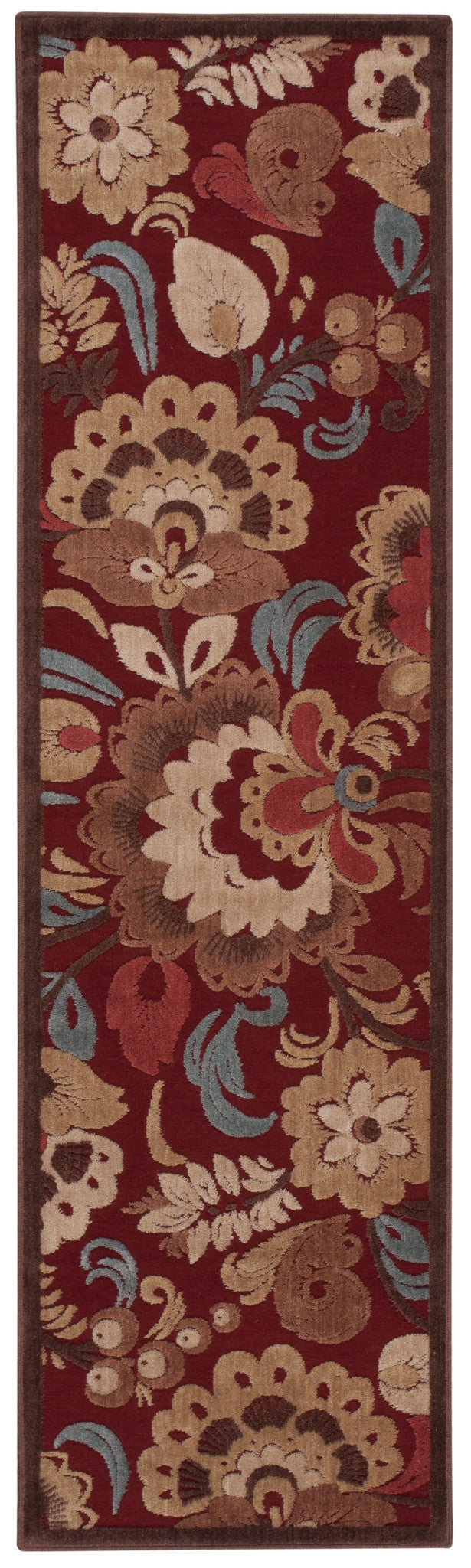 Nourison Graphic Illusions Red Area Rug GIL23 RED