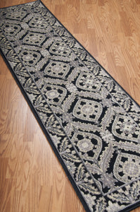 Nourison Graphic Illusions Black Area Rug GIL24 BLK (Runner)