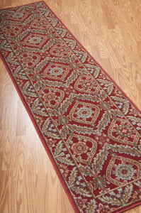 Nourison Graphic Illusions Red Area Rug GIL24 RED (Runner)