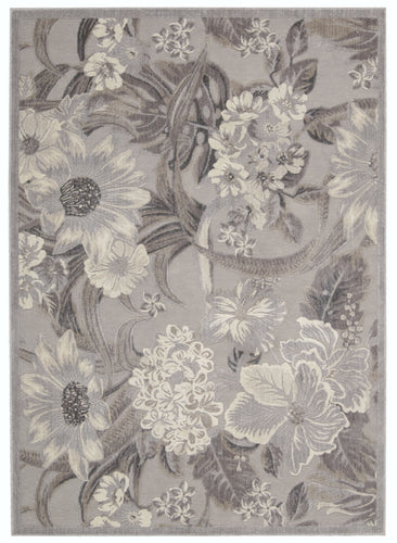 Nourison Graphic Illusions Grey Area Rug GIL26 GRY
