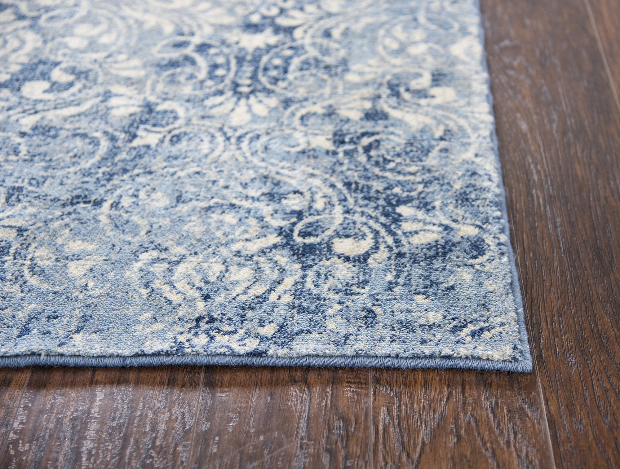 Rizzy Home Gossamer Gs6816 Light Blue Damask Area Rug