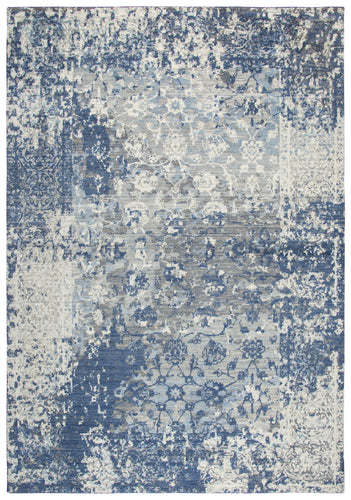 Rizzy Home Gossamer GS6817 Light Gray Floral Distress Area Rug