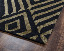 Load image into Gallery viewer, Rizzy Home Gillespie Avenue GV8635 Black Geometric Area Rug