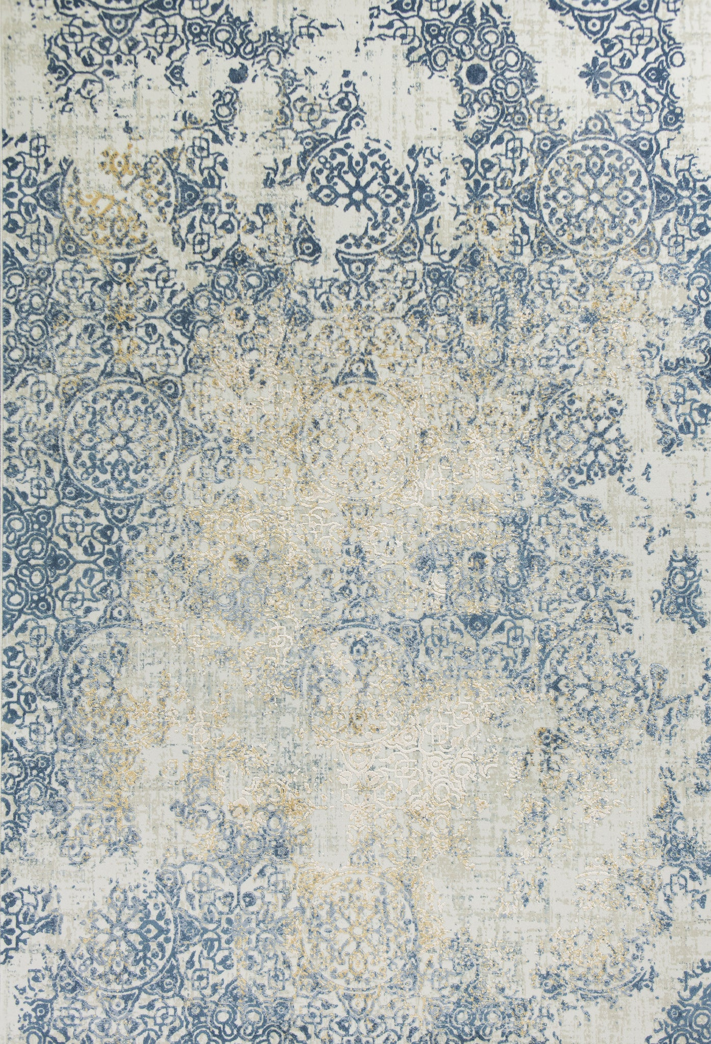Kas Rugs Generations 7006 Ivory Blue Accents Area Rug