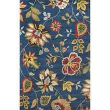 Load image into Gallery viewer, Jaipur Rugs Transitional Floral Pattern Blue/Multi Wool Area Rug
