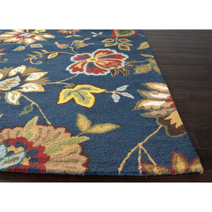 Jaipur Rugs Transitional Floral Pattern Blue/Multi Wool Area Rug HAC05 (Rectangle)