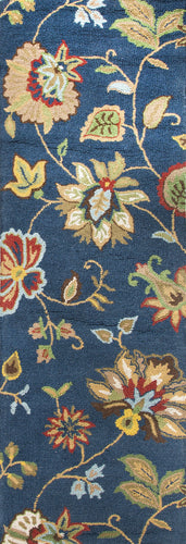 Jaipur Rugs Transitional Floral Pattern Blue/Multi Wool Area Rug
