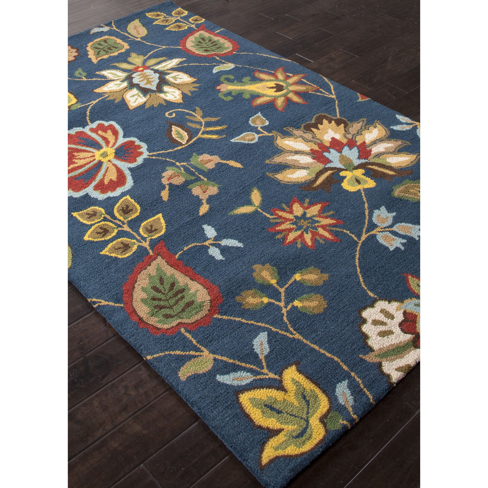 Jaipur Rugs Transitional Floral Pattern Blue Multi Wool