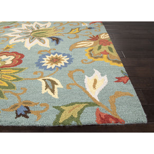 Jaipur Rugs Transitional Floral Pattern Blue/Multi Wool Area Rug HAC09 (Rectangle)