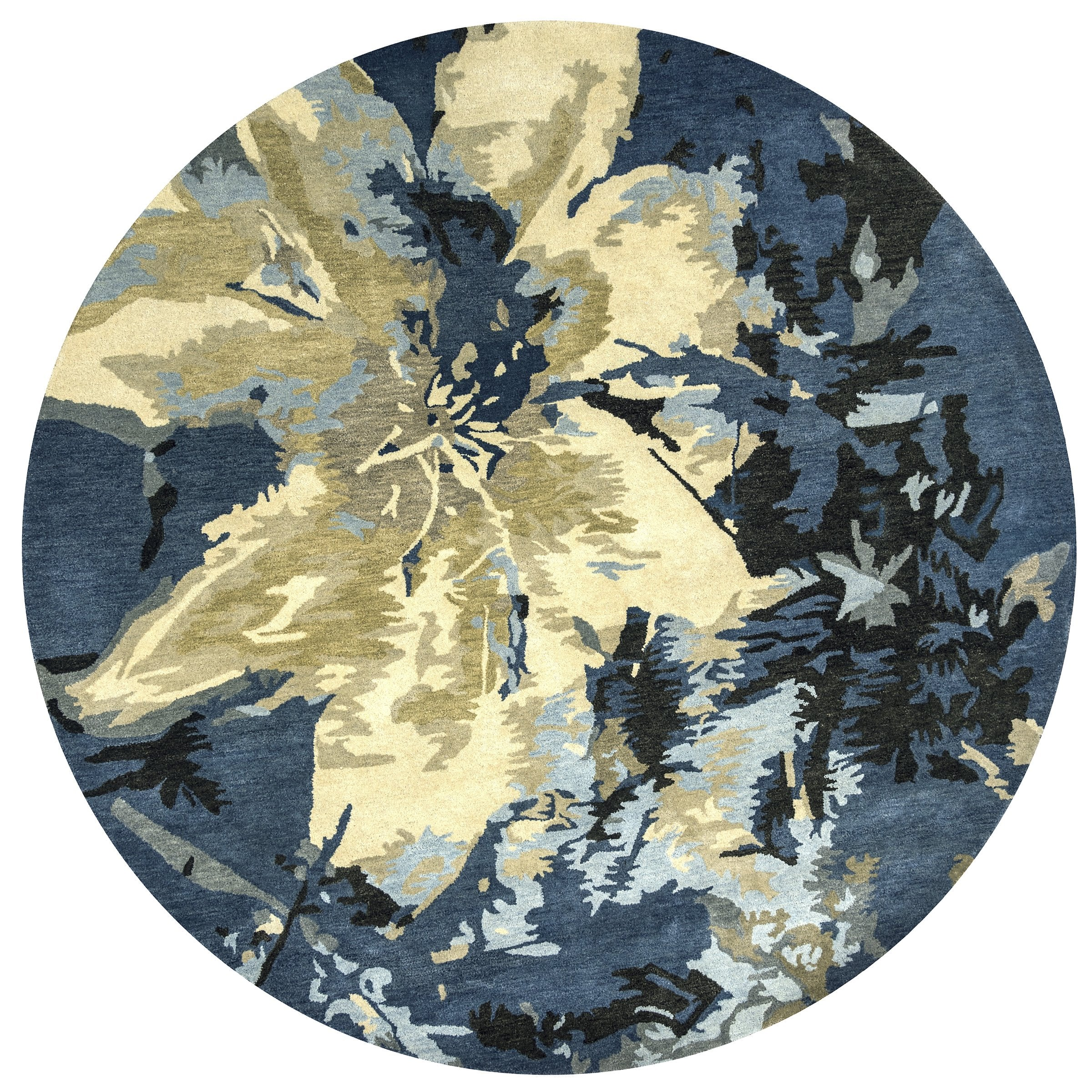 Woolrich Blue And White Floral Rug: Rizzy Home Highland HD2840 Navy/Blue Floral Area Rug