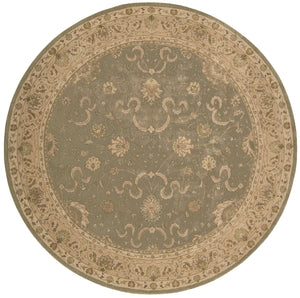 Nourison Heritage Hall Green Area Rug HE20 GRE