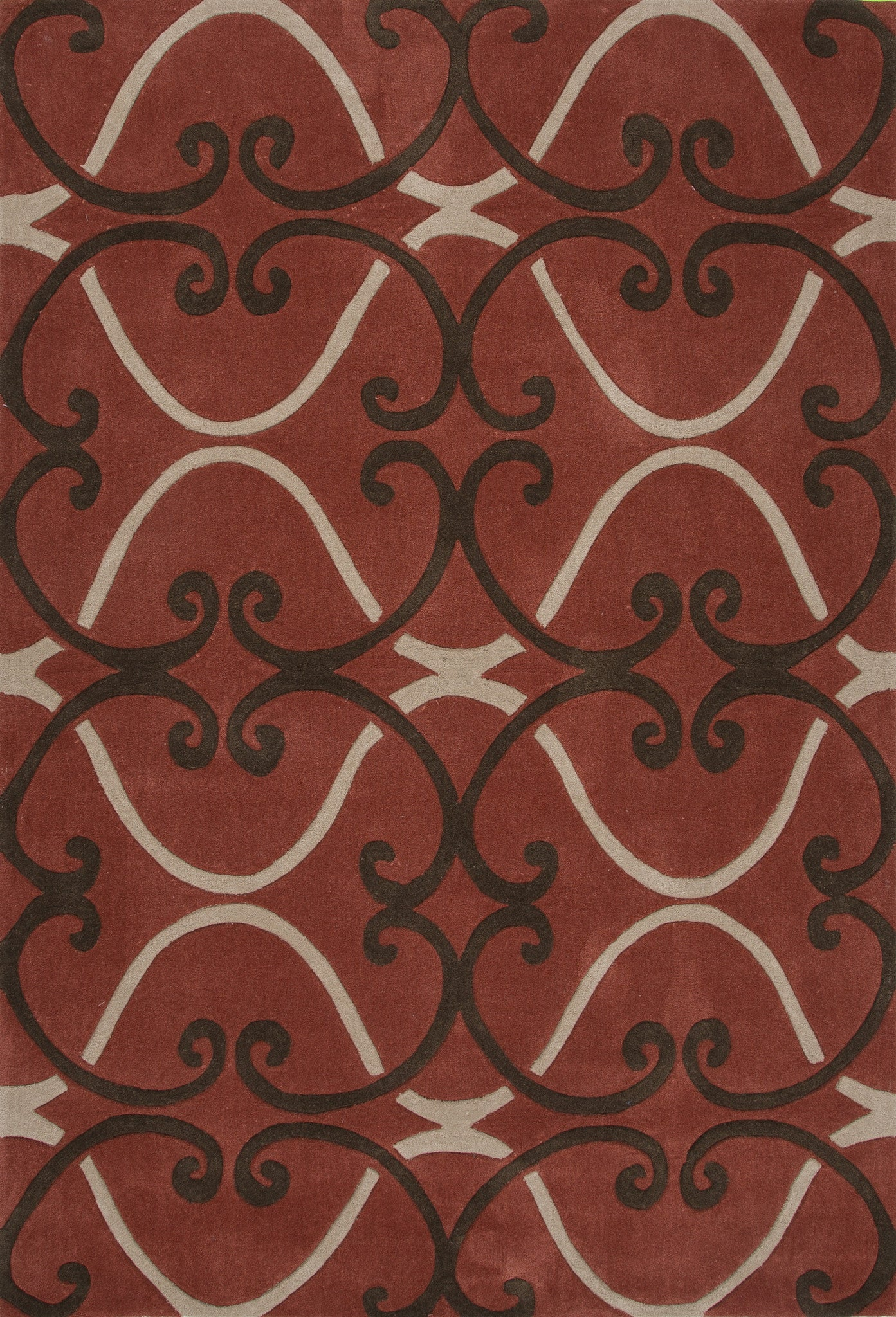 Jaipur rugs modern geometric pattern red polyester area for Red area rugs contemporary