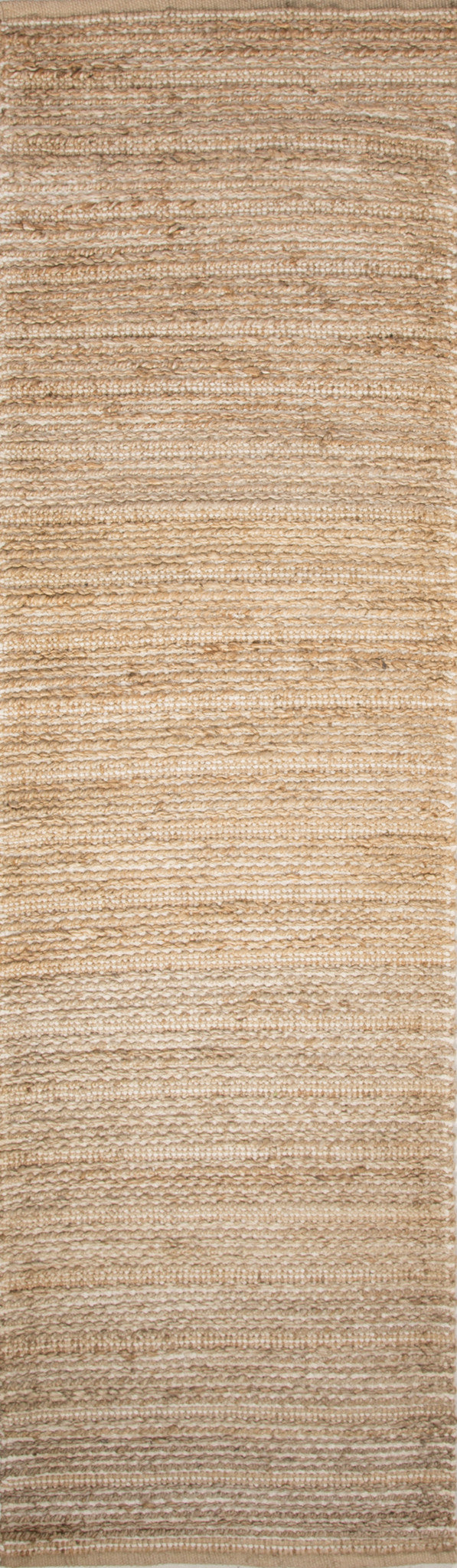 Jaipur Rugs Naturals Solid Pattern Taupe/Ivory Jute and Cotton Area Rug