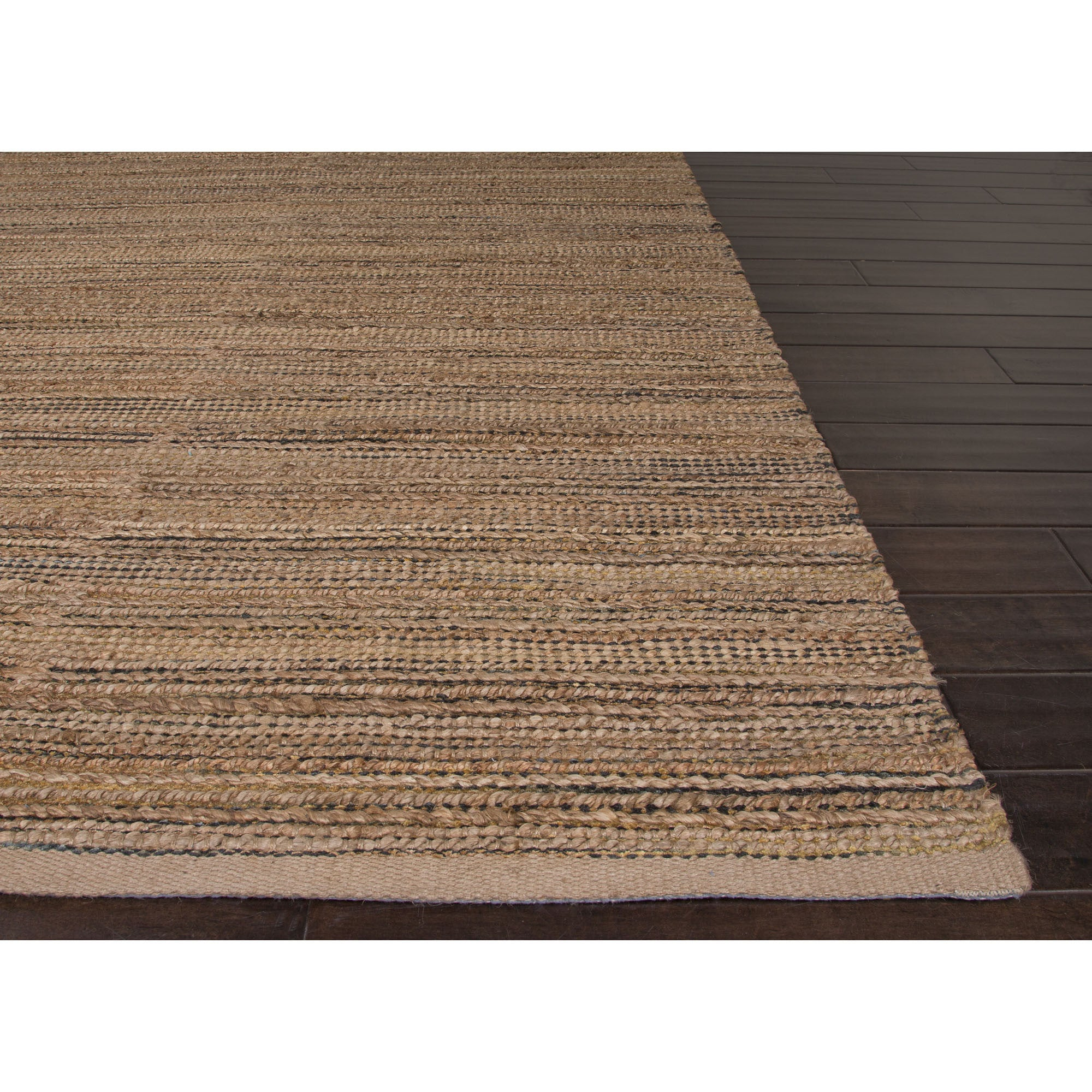 Jaipur Rugs Naturals Solid Pattern Taupe Gray Jute And