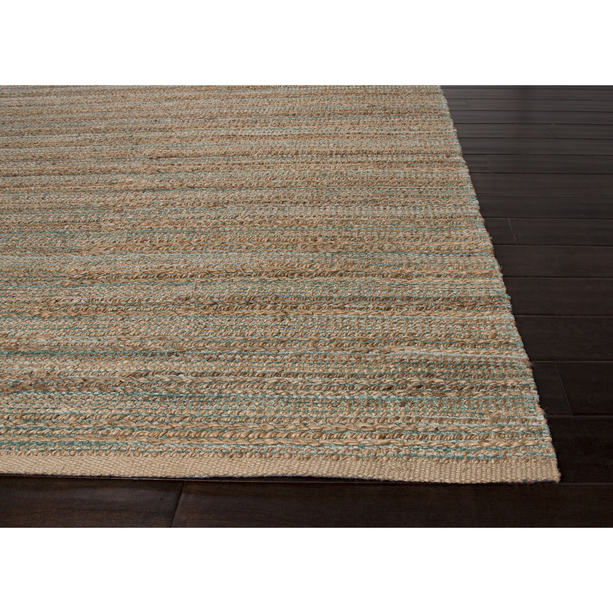 Jaipur Rugs Naturals Solid Pattern Taupe Green Jute And