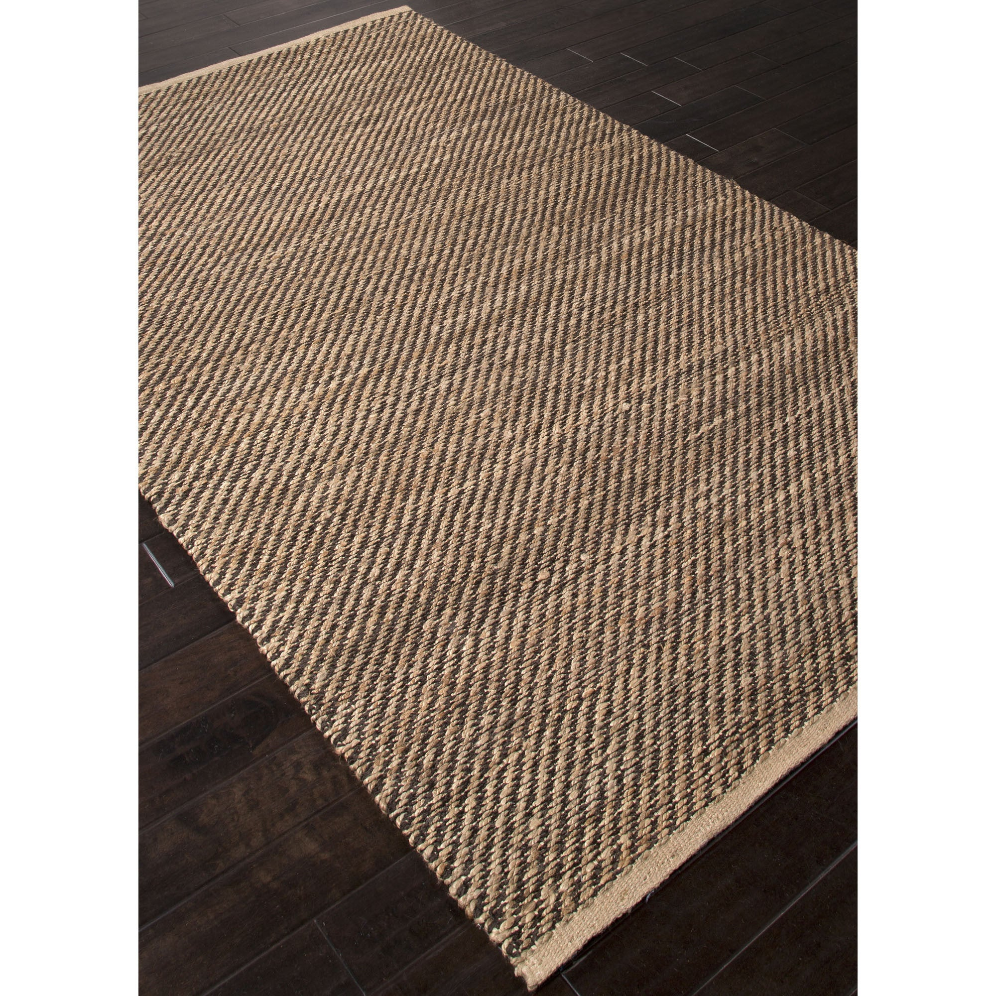 Jaipur Rugs Naturals Solid Pattern Taupe Black Jute And