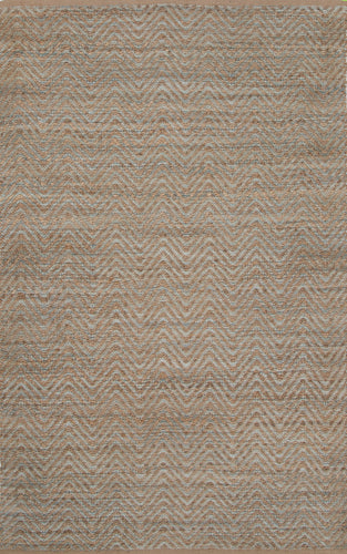Jaipur Rugs Naturals Solid Pattern Blue Jute and Rayon Area Rug