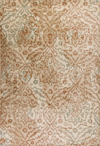 Kas Rugs Heritage 9352 Champagne Damask Area Rug