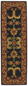 Nourison India House Black Area Rug IH04 BLK