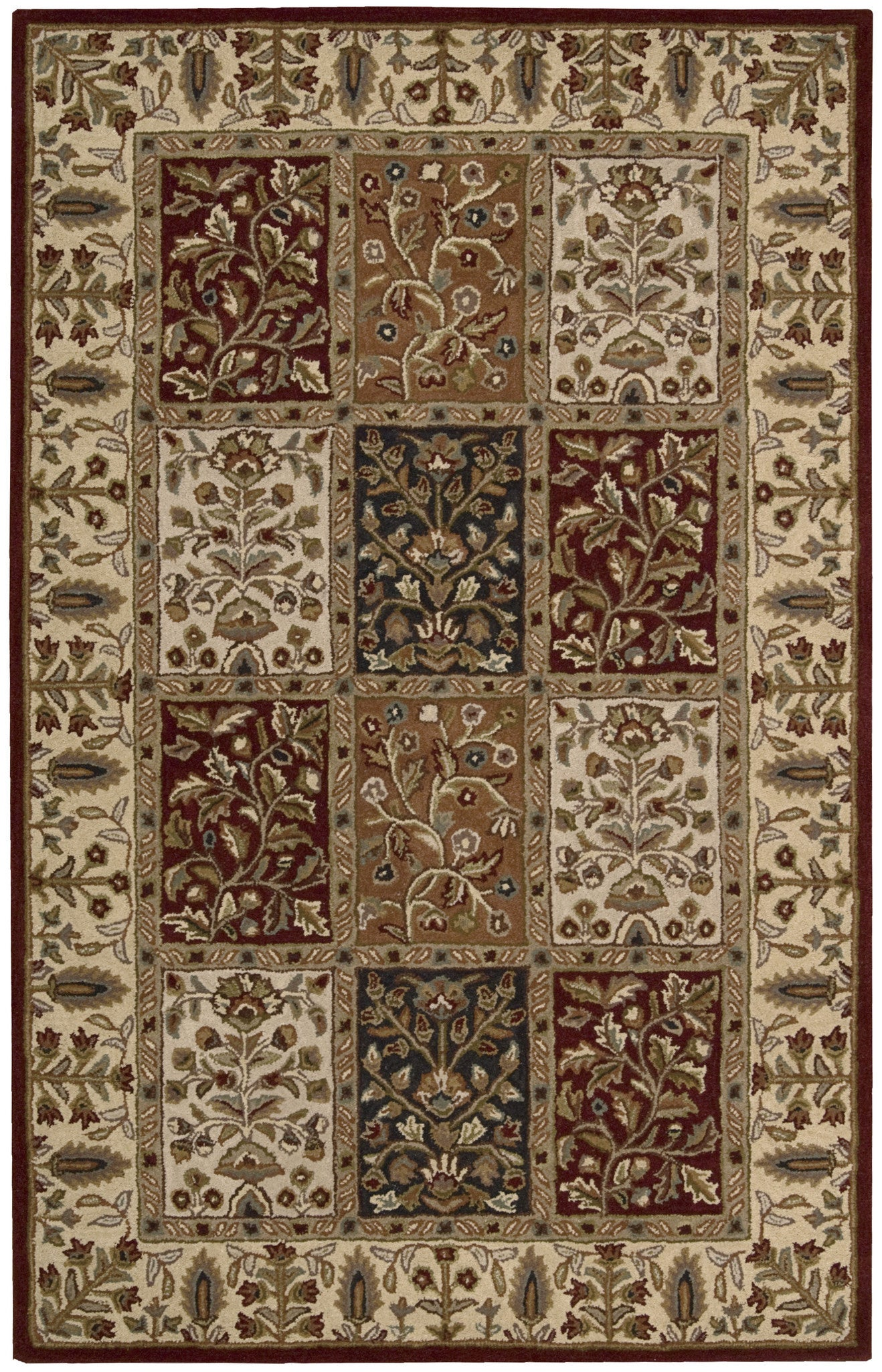 Nourison India House Multicolor Area Rug IH70 MTC (Rectangle) u2013 RugMethod
