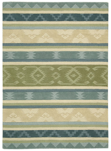 Nourison India House Blue Green Area Rug IH84 BLGRE