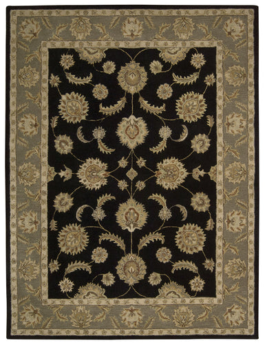 Nourison India House Black Area Rug IH90 BLK