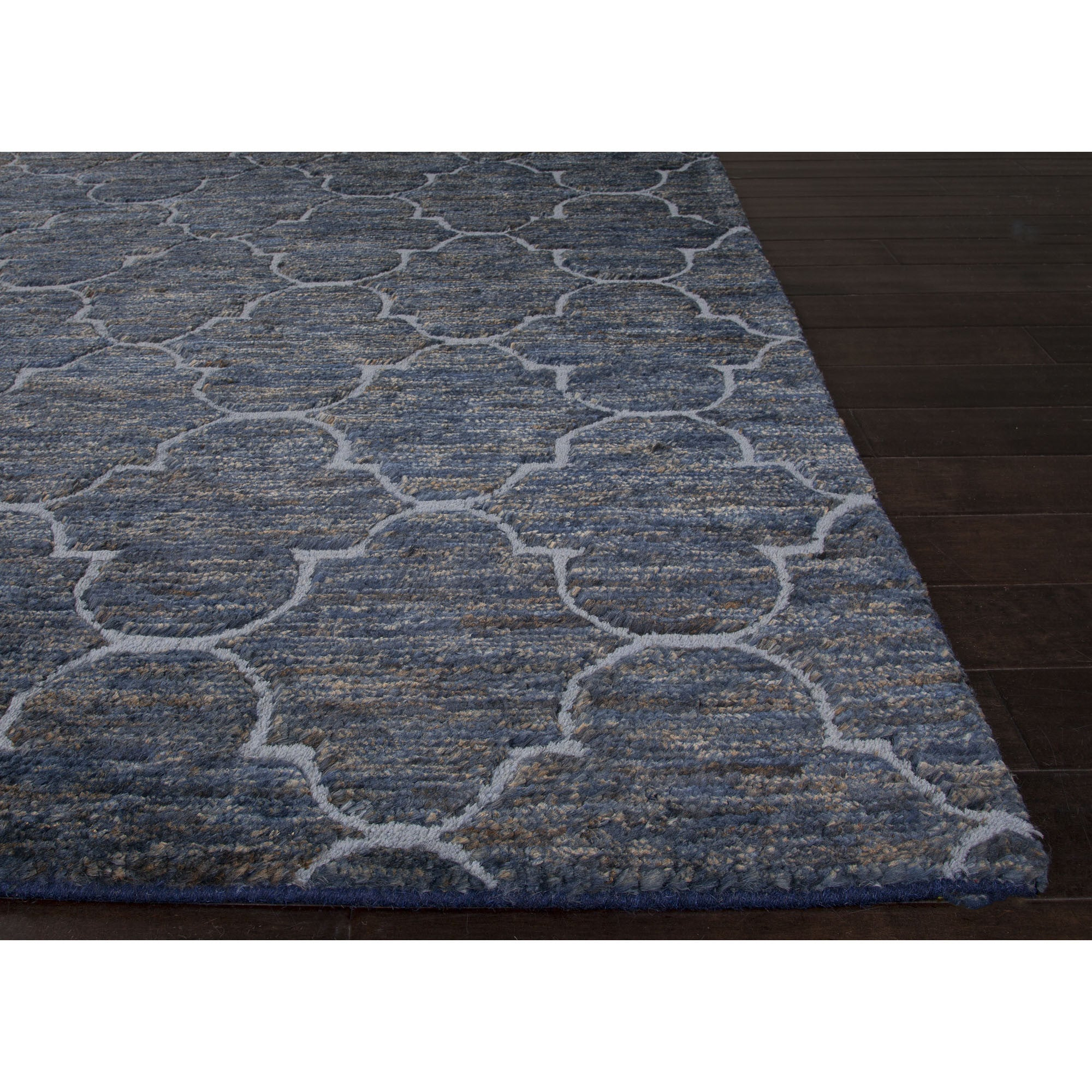 Jaipur Rugs Naturals Moroccan Pattern Blue Jute And Wool