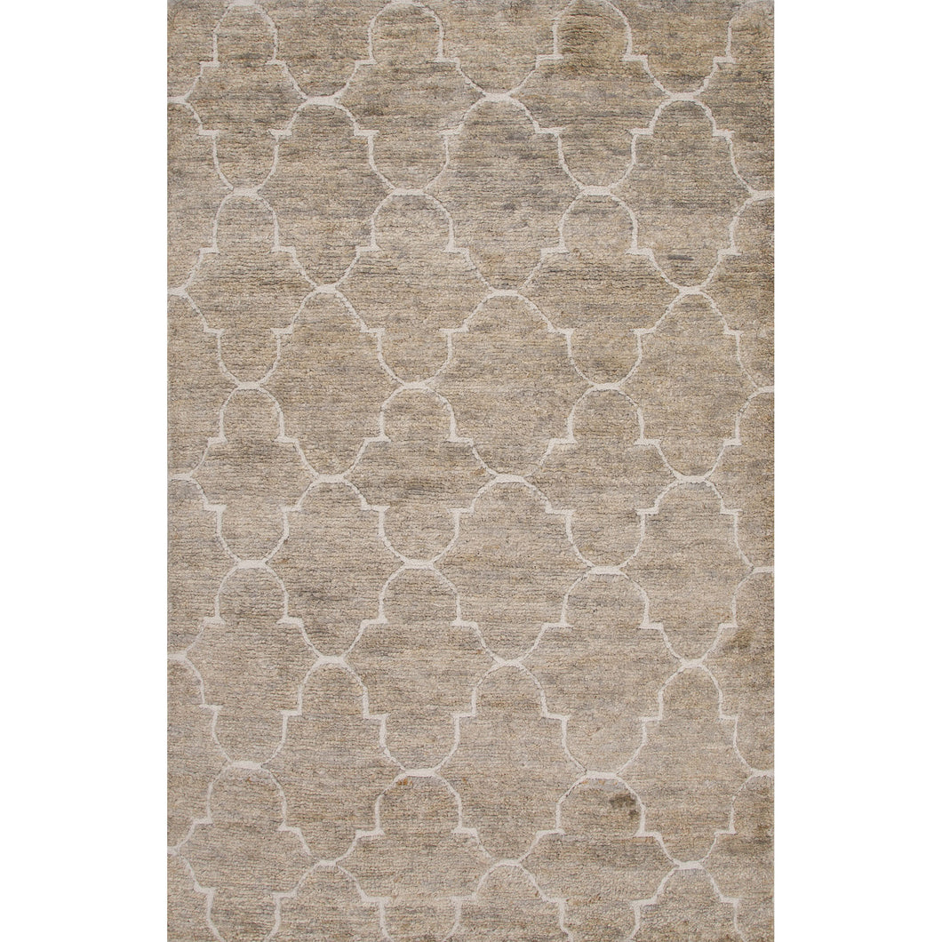 Jaipur Rugs Naturals Moroccan Pattern Gray/Ivory Jute And
