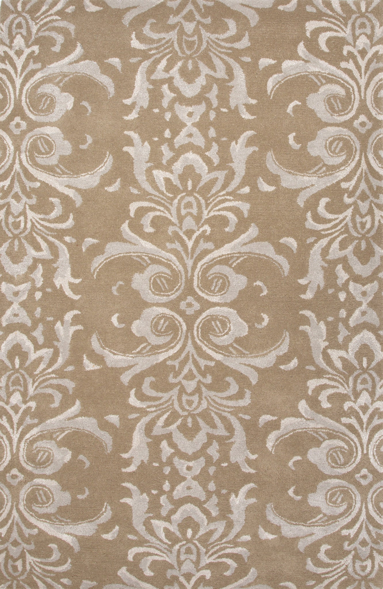 Jaipur Rugs Transitional Floral Pattern Tan Gray Wool And