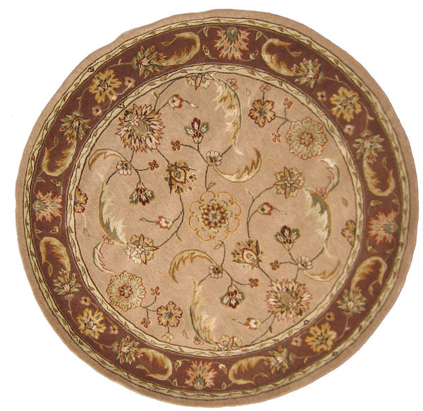 Dynamic Rugs Jewel Sand Classic Round Area Rug Rugmethod