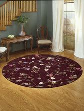 Load image into Gallery viewer, Nourison Julian Ruby Area Rug JL45 RUB (Round)