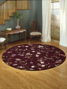 Nourison Julian Ruby Area Rug JL45 RUB (Round)