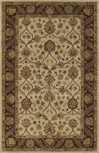Dalyn Jewel Ivory/Chocolate Jw33 Area Rug
