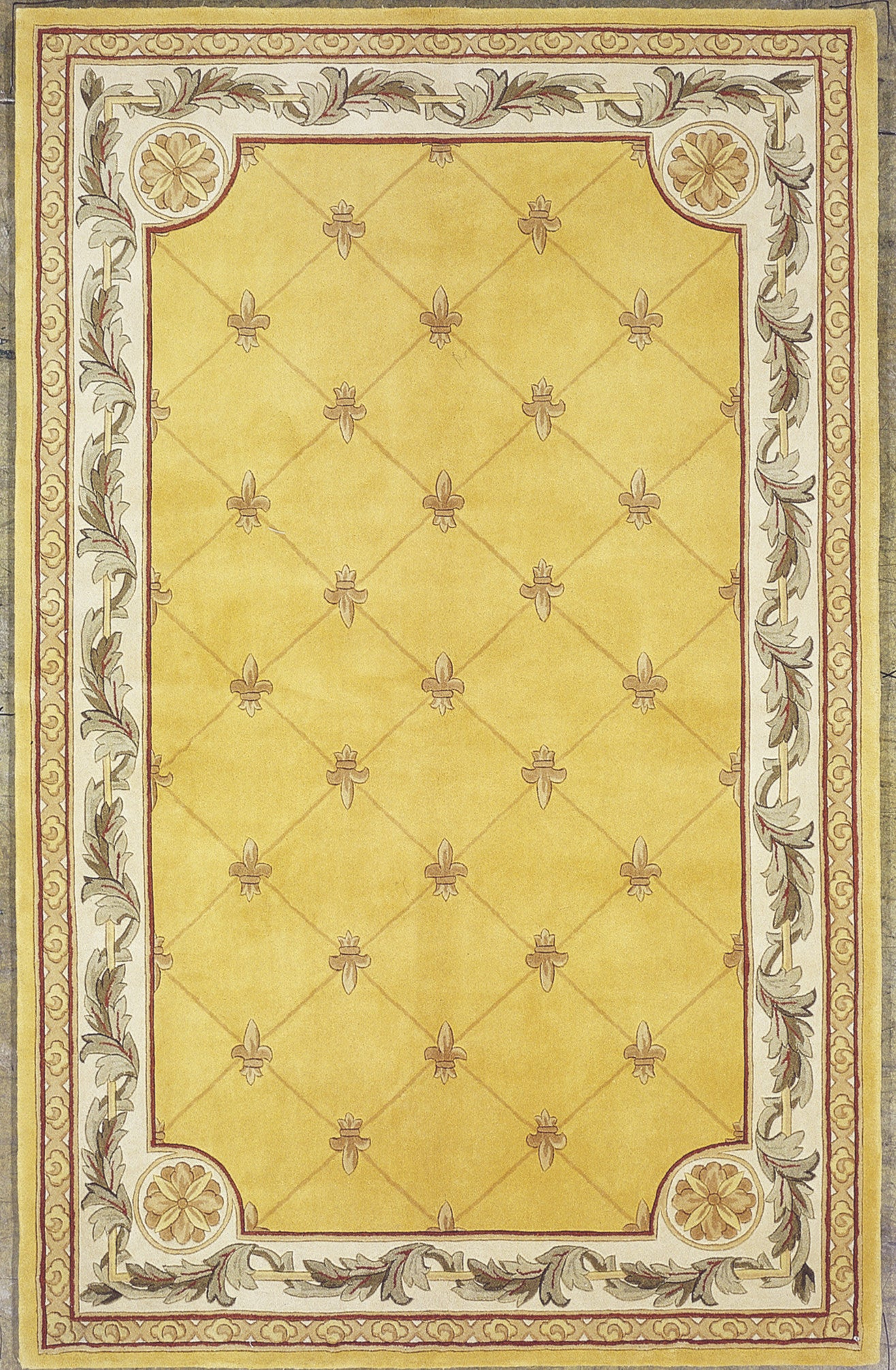 Kas Rugs Jewel 0308 Gold Fleur-De-Lis Area Rug u2013 RugMethod
