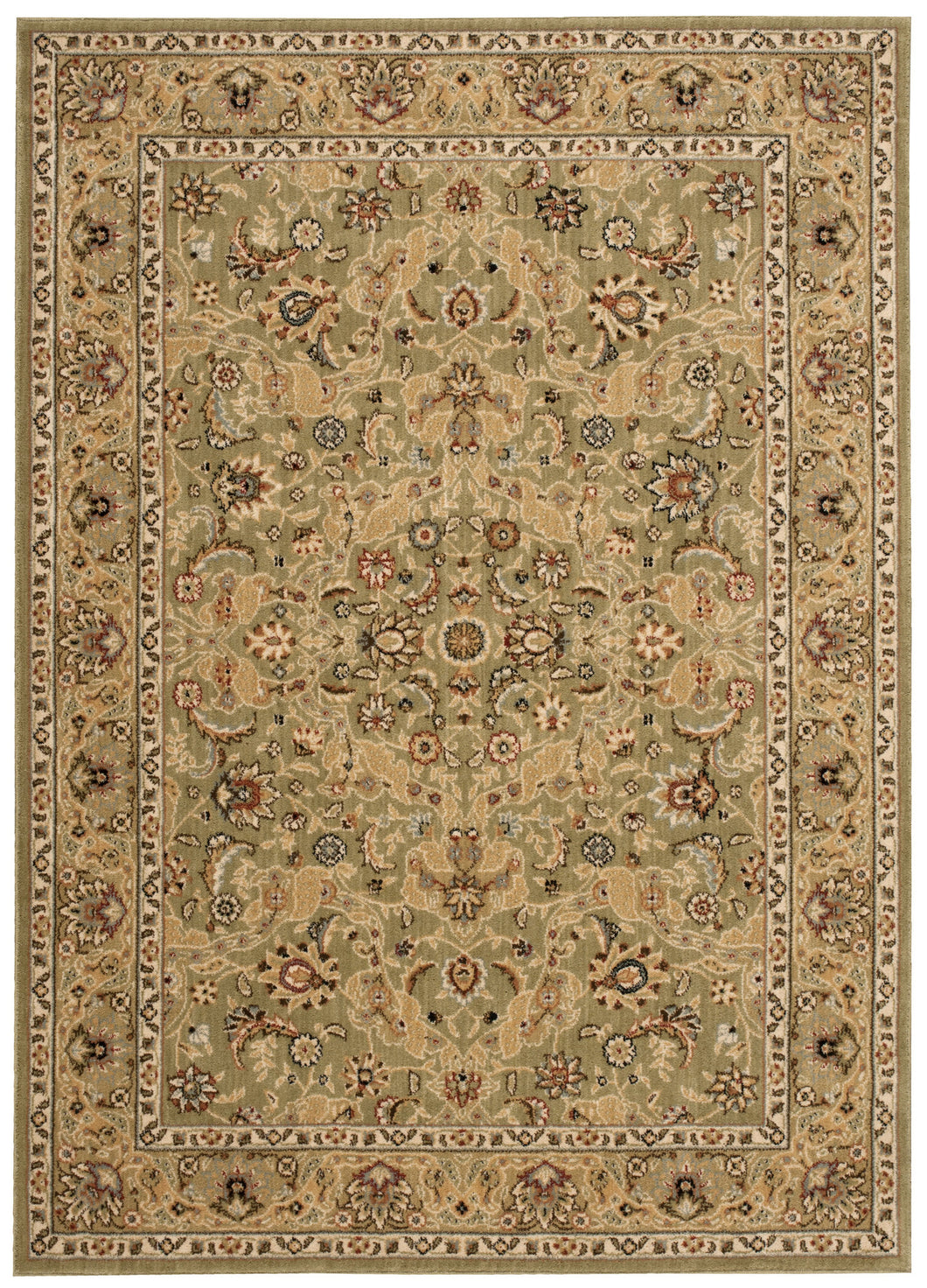 Kathy Ireland Lumiere Royal Countryside Sage Area Rug By Nourison KI600 SAG