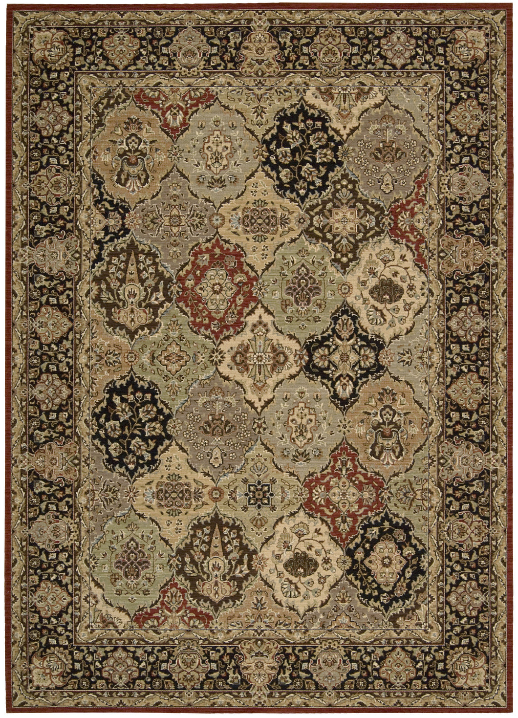 Kathy Ireland Lumiere Persian Tapestry Multicolor Area Rug By Nourison KI601 MTC