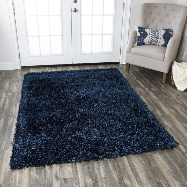 Rizzy Home Kempton Km2443 Dark Blue Solid Area Rug Rugmethod