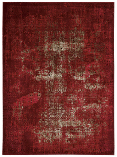 Nourison Karma Red Area Rug KRM01 RED